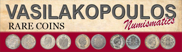 Vasilakopoulos Numismatics deal with high-grade, rare Greek coins, as well as world coins and gold.