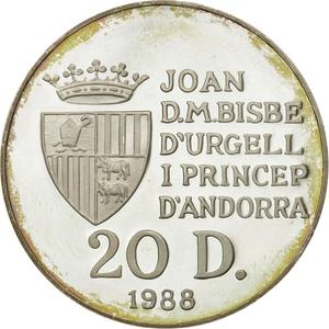 Andorra / Twenty Diners 1988 Gymnastics - reverse photo
