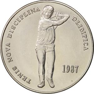 Andorra / Two Diners 1987 Tennis - obverse photo