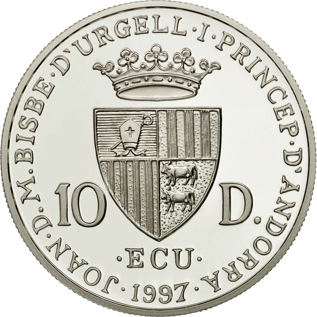 Ten Diners 1997 Vivaldi: Photo Coin, Andorra, Ten Diners 1997 Vivaldi