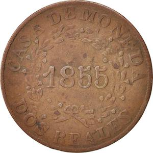 Argentina / Two Reales 1855 Buenos Aires - obverse photo