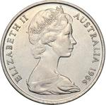 Australia / Twenty Cents 1966 / Wavy Baseline - obverse photo