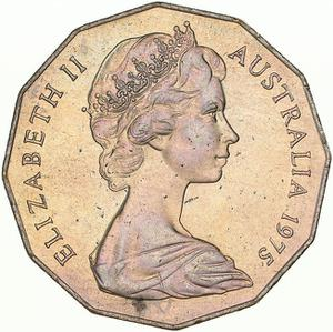 Australia / Fifty Cents 1975 - obverse photo