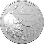 Australia / Silver Ounce 2021 Year of the Ox (RAM) - reverse photo