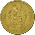 Australia / One Dollar 1986 Year of Peace - reverse photo