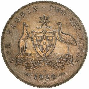 Australia / Florin 1920 (pattern) - reverse photo