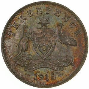 Australia / Threepence 1915 - reverse photo