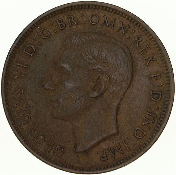 Halfpenny 1939 Commonwealth of Australia: Photo Coin - Halfpenny, Australia, 1939