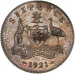 Sixpence 1921: Photo Specimen Coin - Sixpence, Australia, 1921
