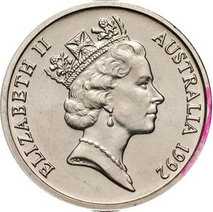 Australia / Five Cents 1992 - obverse photo