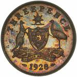 Threepence 1928: Photo Proof Coin - Threepence, Australia, 1928
