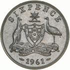 Australia / Sixpence 1961 / Proof - reverse photo
