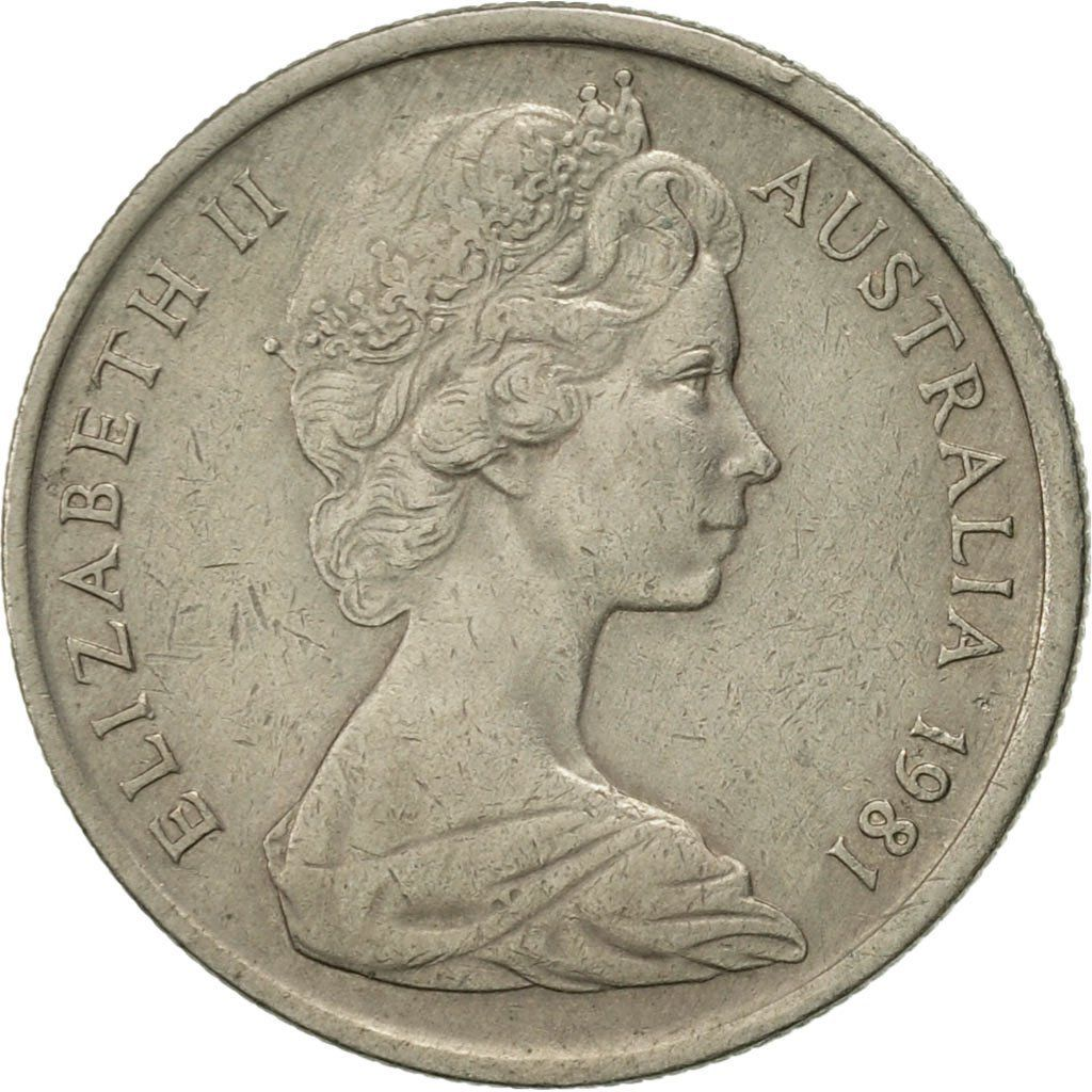 Five Cents 1981: Photo Australia, Elizabeth II, 5 Cents, 1981
