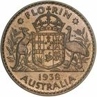 Australia / Florin 1938 / Proof - reverse photo