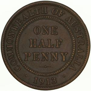 Australia / Halfpenny 1913 - reverse photo