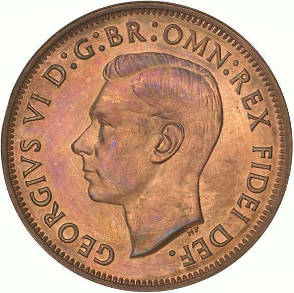 Halfpenny: Photo Proof Coin - Halfpenny, Australia, 1950