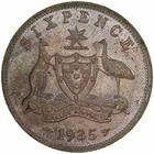 Sixpence 1935: Photo Specimen Coin - Sixpence, Australia, 1935