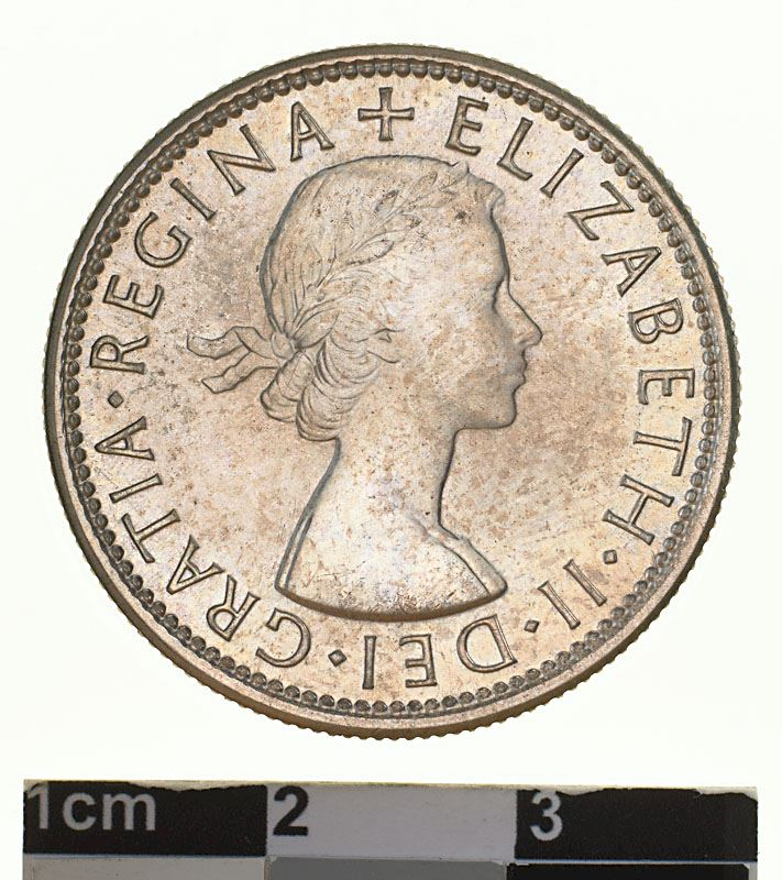 Florin 1953: Photo Proof Coin - Florin (2 Shillings), Specimen Strike, Australia, 1953