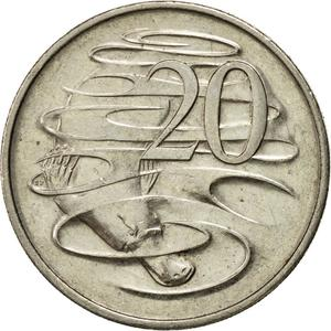Australia / Twenty Cents 1994 - reverse photo