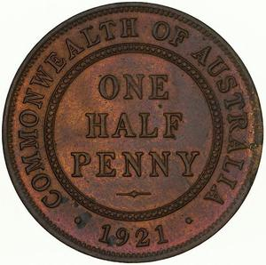 Australia / Halfpenny 1921 - reverse photo