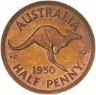 Halfpenny 1950: Photo Proof Coin - Halfpenny, Australia, 1950