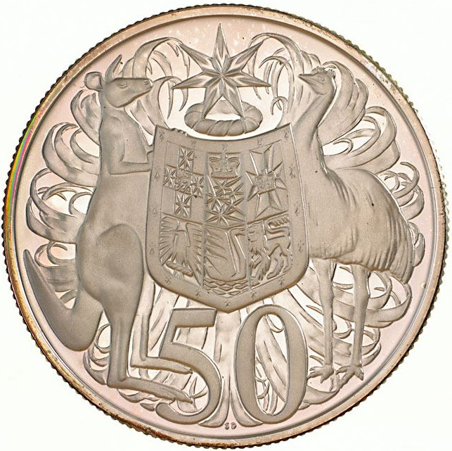 Fifty Cents: Photo Proof Coin - 50 Cents, Australia, 1966