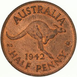 Australia / Halfpenny 1942 - reverse photo