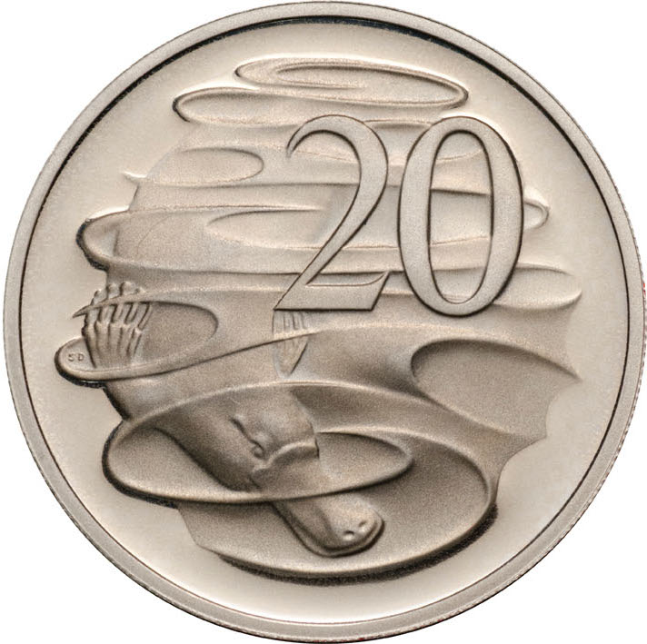 Twenty Cents 1996: Photo 1996 20c CuNi Proof for the Proof Year Set