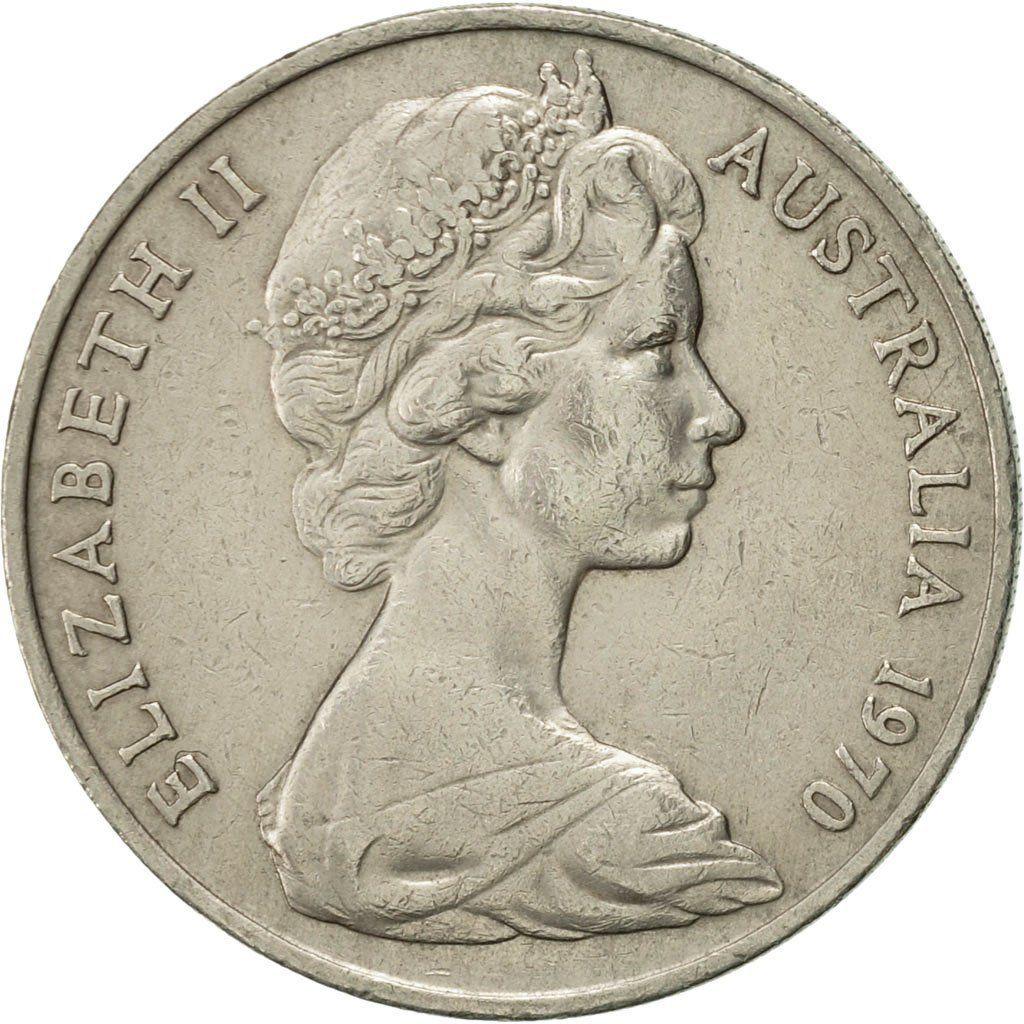 Twenty Cents 1970: Photo Australia, Elizabeth II, 20 Cents, 1970