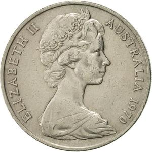 Australia / Twenty Cents 1970 - obverse photo
