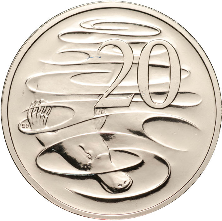 2008 Uncirculated 20c Platypus Coin