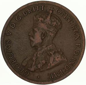 Australia / Halfpenny 1922 - obverse photo