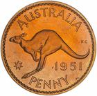 Australia / Penny 1951 / Proof (Royal Mint London) - reverse photo