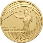 Australia / Twenty Cents 2007 Year of the Life Saver (NCLT) / Gold Proof FDC - reverse photo