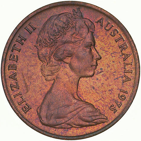 One Cent 1975: Photo Coin - 1 Cent, Australia, 1975