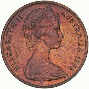 Australia / One Cent 1975 - obverse photo