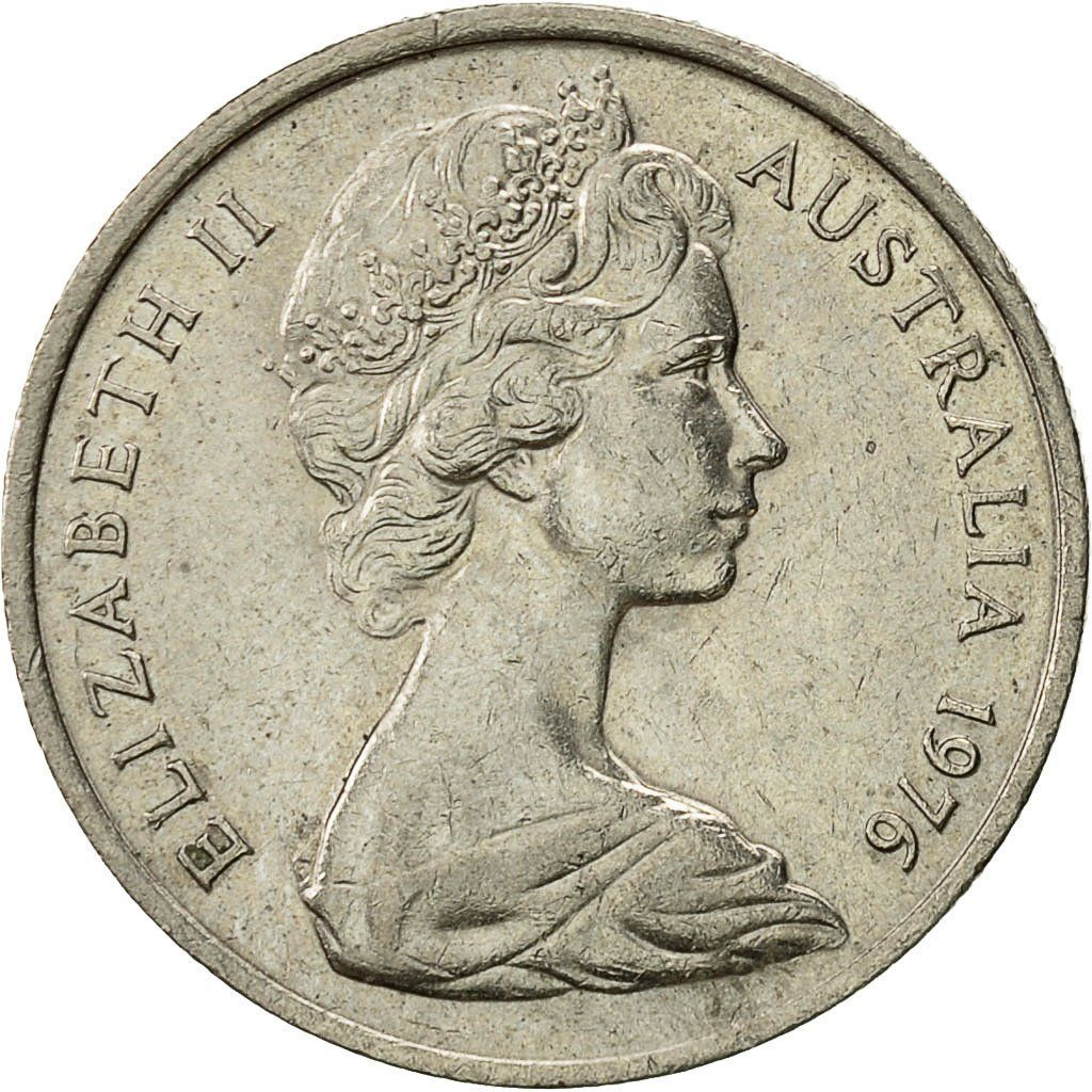 Five Cents 1976: Photo Australia, Elizabeth II, 5 Cents, 1976
