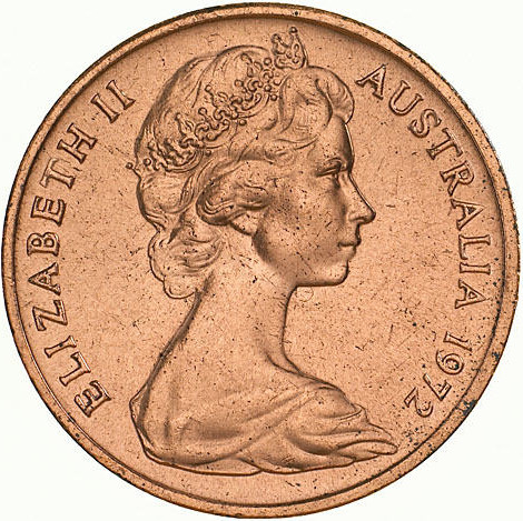 One Cent 1972: Photo Coin - 1 Cent, Australia, 1972
