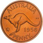Penny 1956: Photo Proof Coin - 1 Penny, Australia, 1956