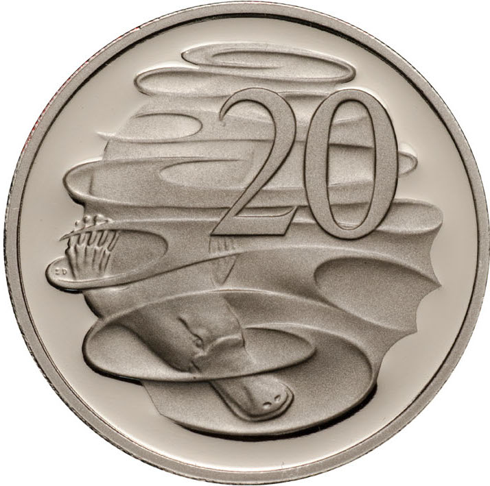 Twenty Cents 2006: Photo 2006 20c CuNi Proof for the Proof Year Set
