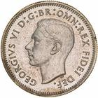 Sixpence 1951: Photo Proof Coin - Sixpence, Australia, 1951