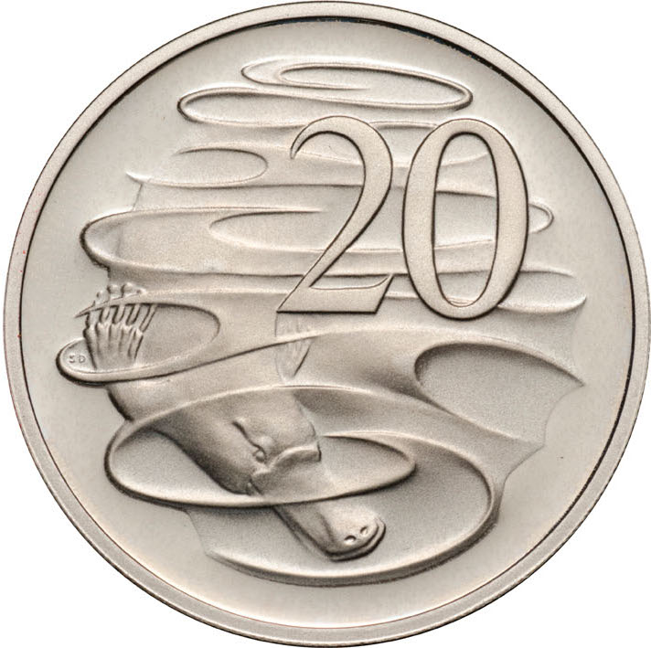 Twenty Cents 1997: Photo 1997 20c CuNi Proof for the Proof Year Set