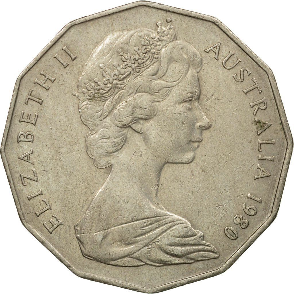Fifty Cents 1980: Photo Coin, Australia, Elizabeth II, 50 Cents, 1980