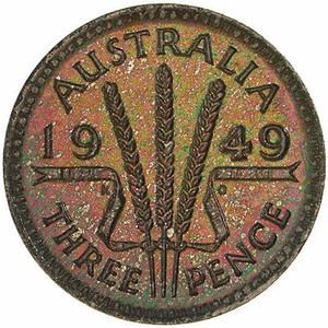 Australia / Threepence 1949 - reverse photo