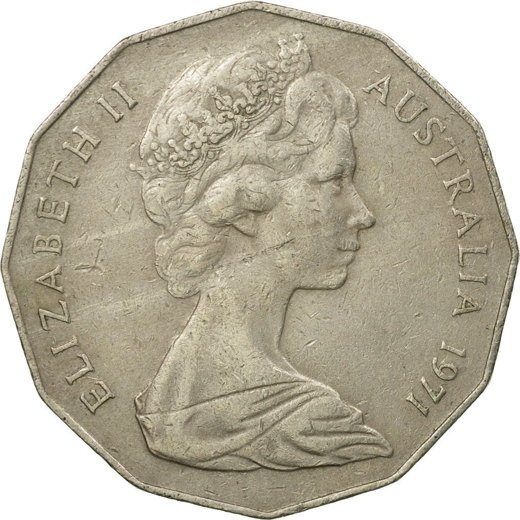 Fifty Cents 1971: Photo Coin, Australia, Elizabeth II, 50 Cents, 1971