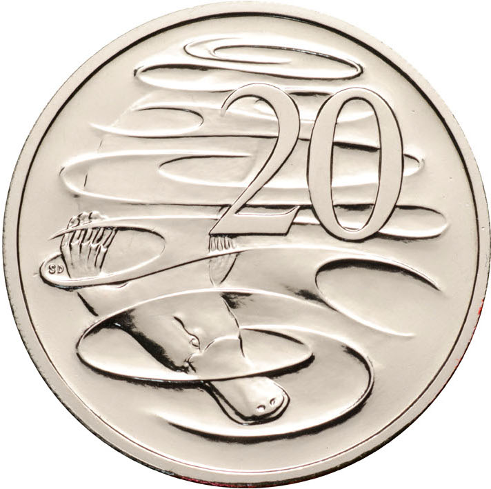 Twenty Cents 2007: Photo 2007 20c CuNi Unc for the Uncirculated Year Set BU