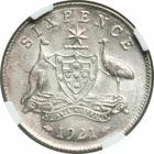 Sixpence 1921: Photo Australia 1921 6 pence