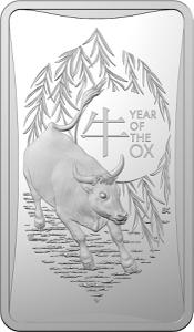Australia / Silver Half Ounce 2021 Year of the Ox - Ingot - reverse photo