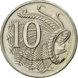 Australia / Ten Cents 2007 - reverse photo