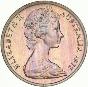 Australia / Five Cents 1972 - obverse photo